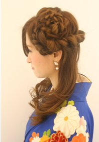 卒業式袴に合う髪型2